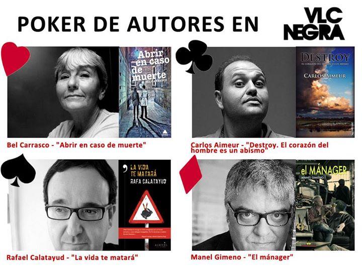 Poker de autores en Valencia Negra 2015