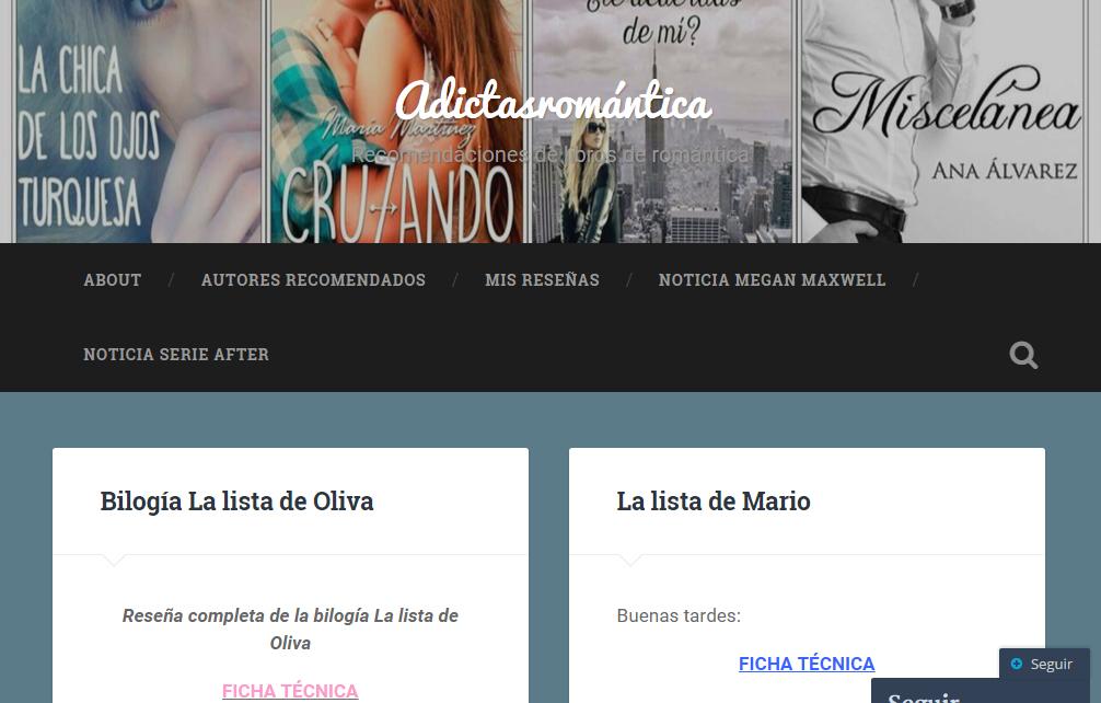 Blogs literarios: Adictas romántica