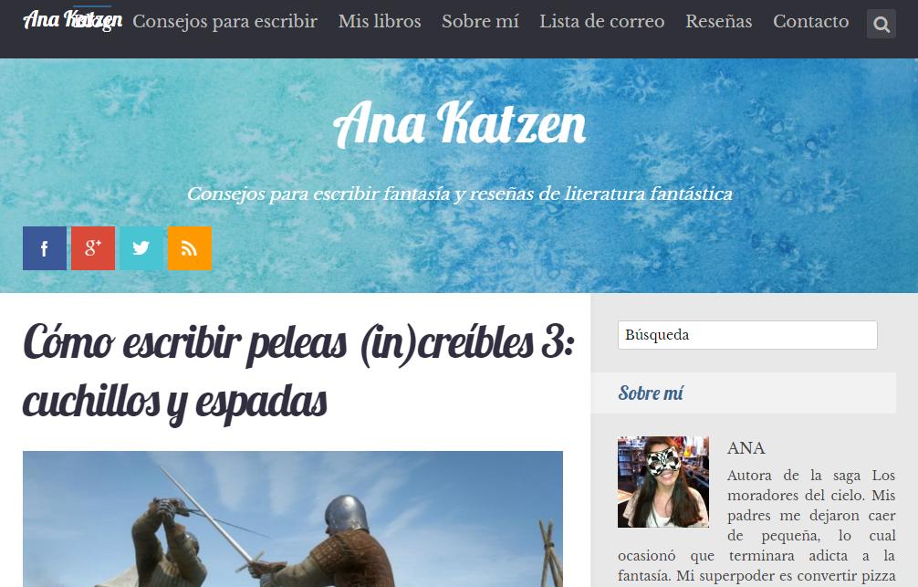 Blogs literarios: Ana katzen
