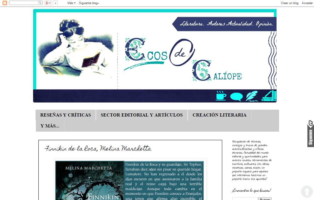 Blogs literarios: Ecos de Calíope
