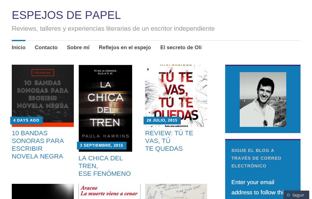 Blogs literarios: Espejos de papel