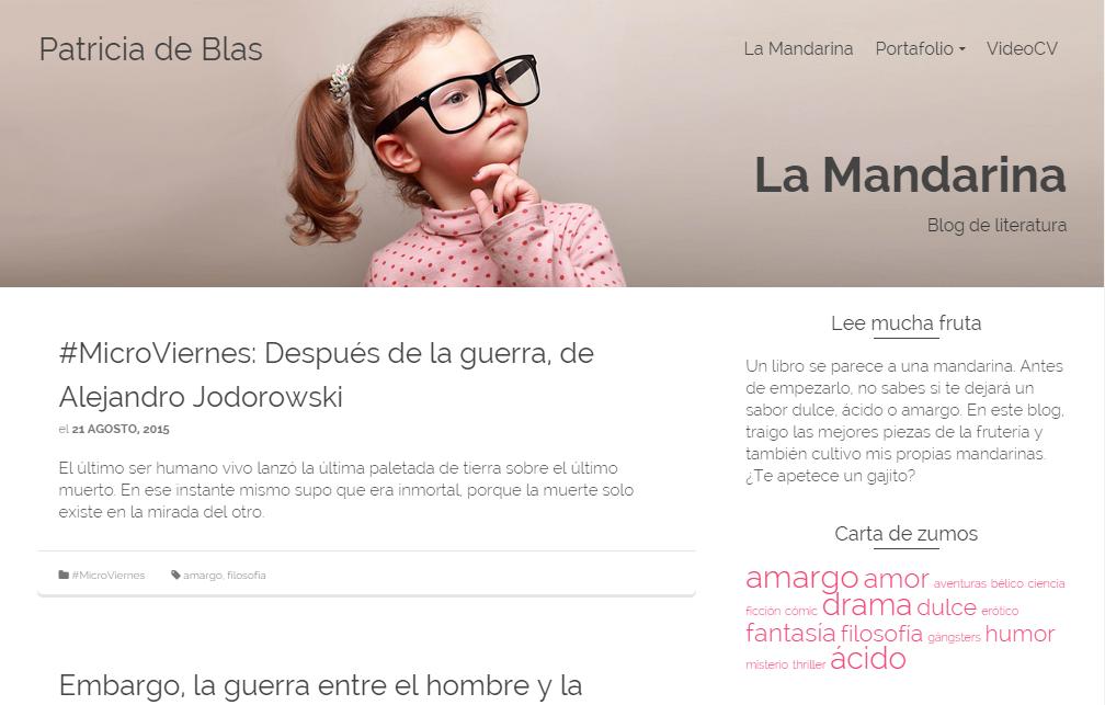 Blogs literarios: La Mandarina