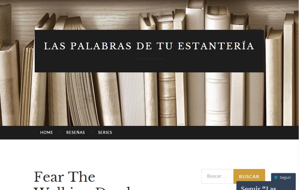 Blogs literarios: Las palabras de tu estantería