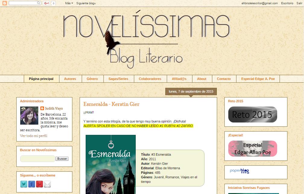 Blogs literarios: Novelíssimas