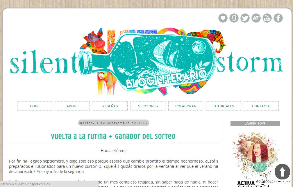 Blogs literarios: Silent storm
