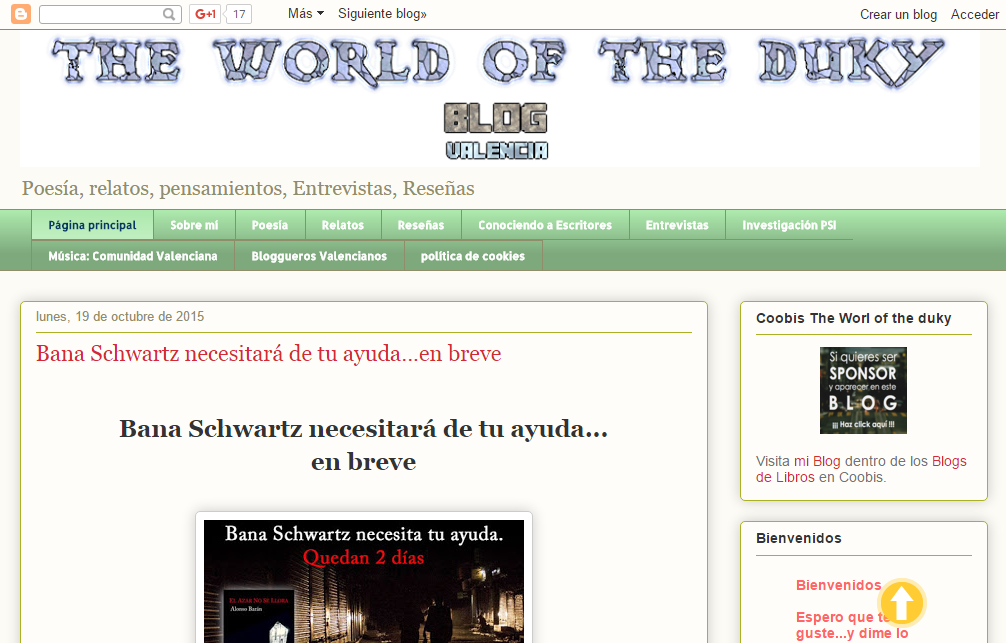 Blogs literarios: The world of the duky