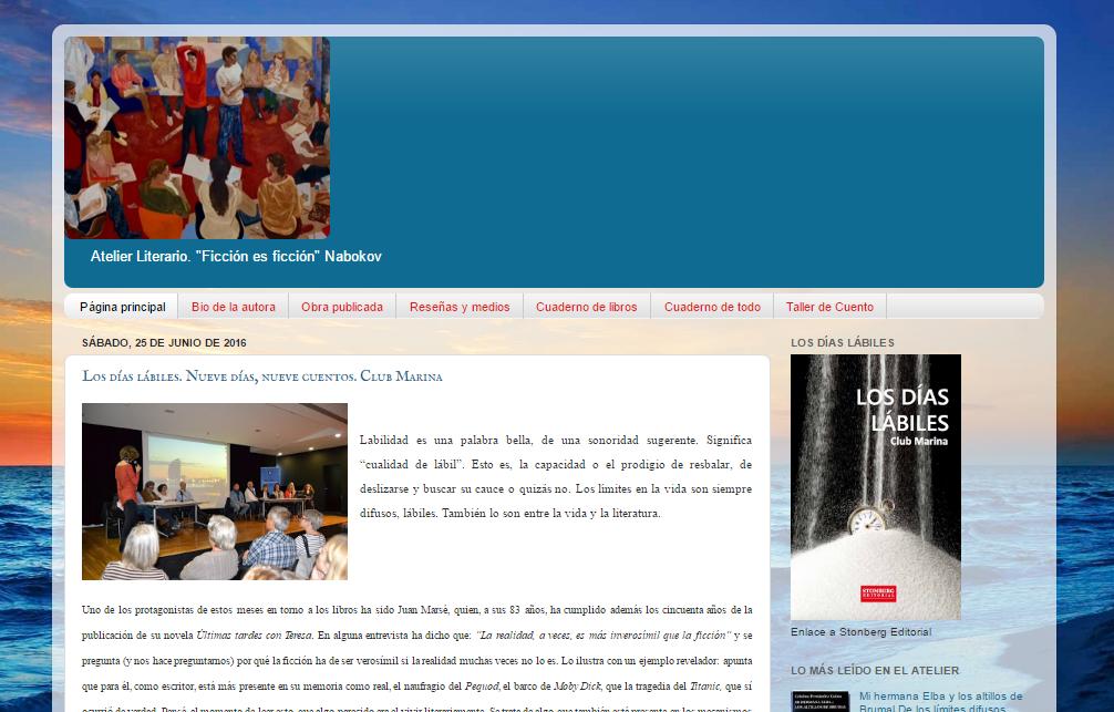 Blogs literarios: Atelier literario