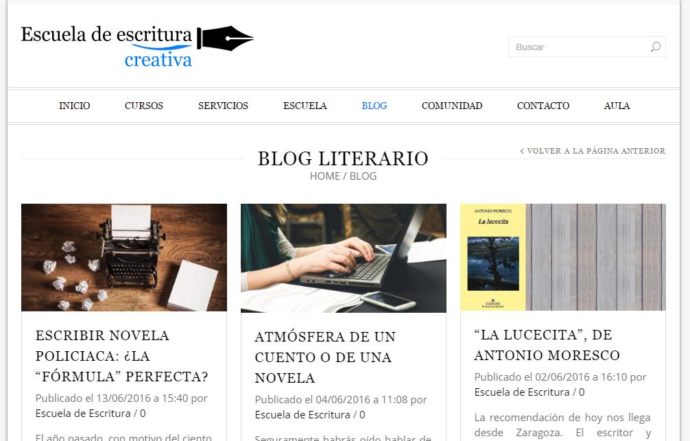 Blogs literarios: Blog literario de la Escuela de escritura