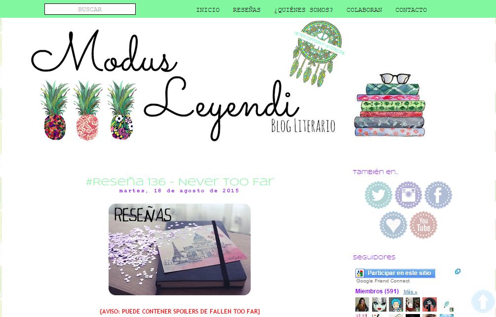 Blogs literarios: Modus Leyendi