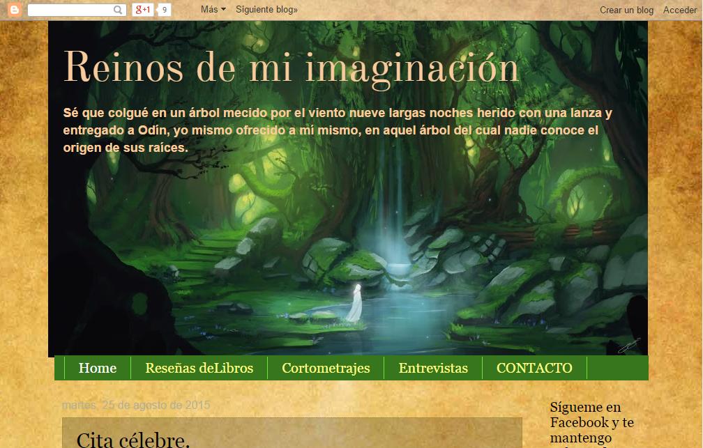 Blogs literarios: Reinos de mi imaginación