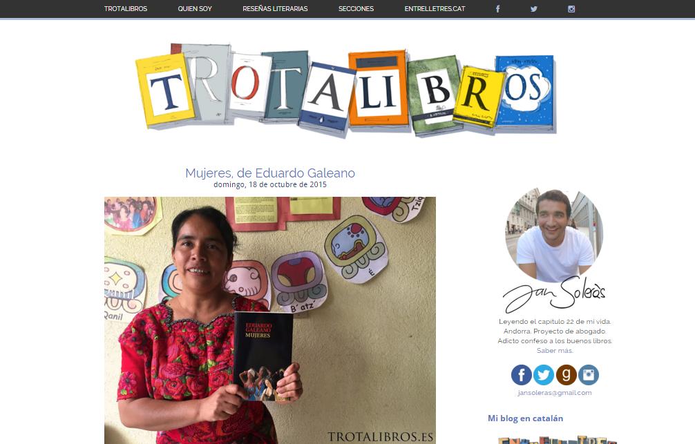 Blogs literarios: Trotalibros